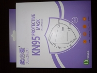 KN95 Protective 5 Ply Face Mask, 10/Bx