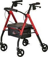Nova Star 6 Rollator Walker, Red
