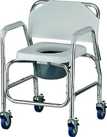 Nova Shower Chair & Commode with Wheels, #8800