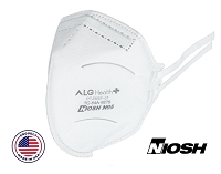 ALG N95 Foldable Respirator Mask, Surgical Level, 40/Box, PT-N95F-01