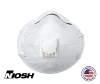 N95 Respirator Mask Molded with Exhale Valve, Large