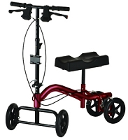 Nova TKW-13 Heavy Duty Turning Knee Walker, Metallic Red