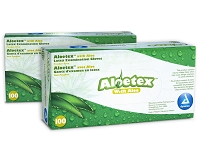 Dynarex Aloetex Latex Exam Gloves with Aloe, Powder-Free 100ct/Box