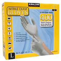 Kirkland Signature Nitrile Exam Gloves 400 ct., White