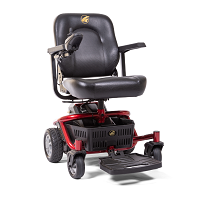 Golden LiteRider PTC Power Transport Chair with Quick Release Transaxle spacer