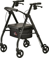 Nova Star 6 Rollator Walker, Black