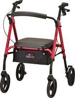 Nova Star 8 Rollator Walker, Red