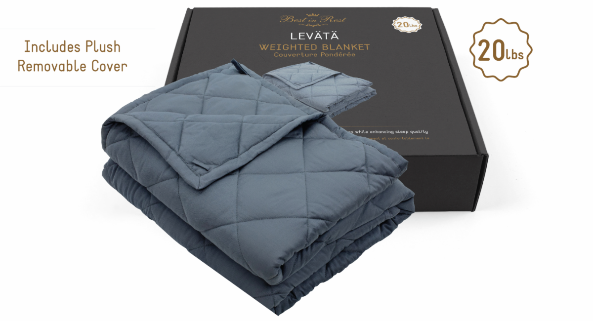 Levata Weighted Blanket with Removable Cover, BIRWB1234